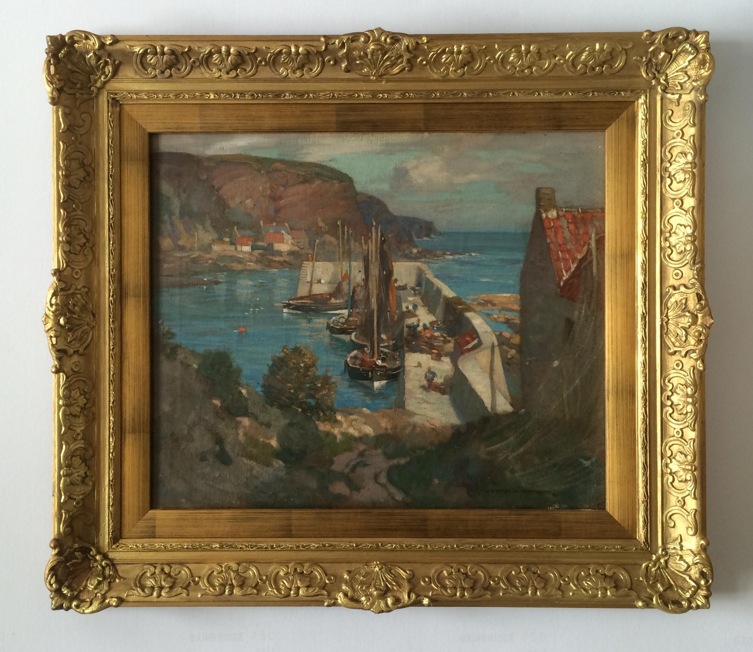 James Whitelaw Hamilton 1860 1932 Burnmouth Harbour For