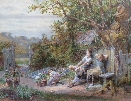 Family in the garden.W.F.Coleman