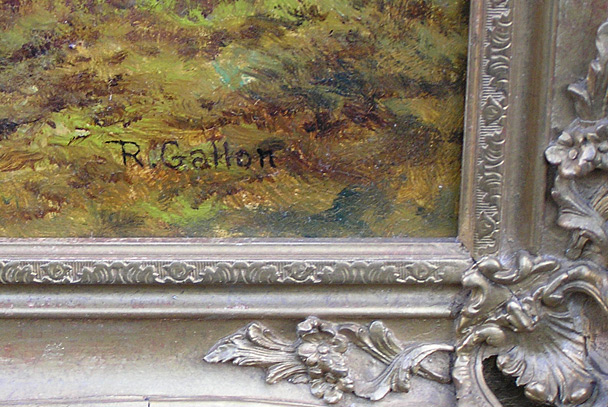 Robert Gallon painting signature
