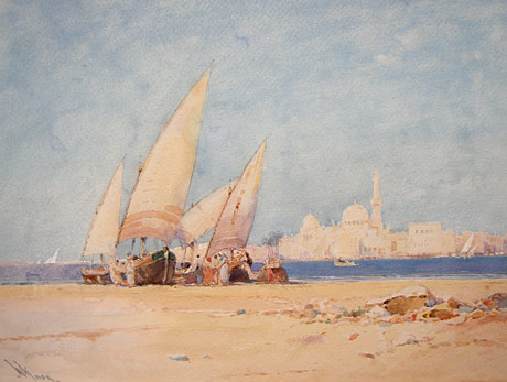 Arabian scene, perhaps off Morocco
