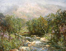John Falconer slater Painting: A Highland Stream