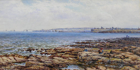 Gathering shellfish, Cullercoates