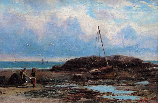 Duncan Fraser McLea Painting: Figures on the shore