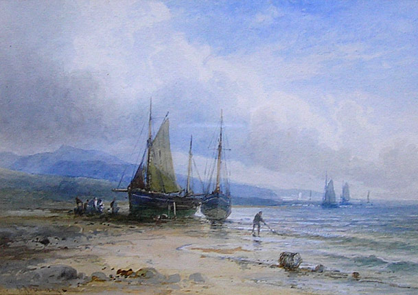 Emil Axel Krause painting: Off the Welsh Coast