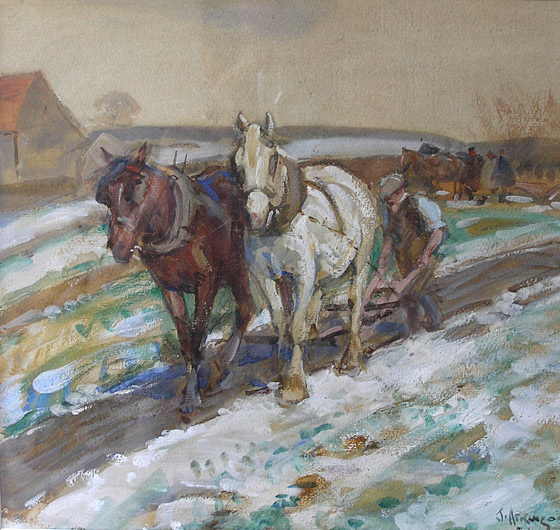 Ploughing in Winter
