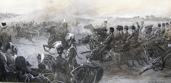 John Charlton: Hussars on exercise