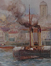 Robert Malcolm Lloyd painting: North Shields