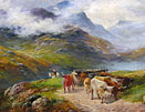Henry Garland painting: The Highland Drover