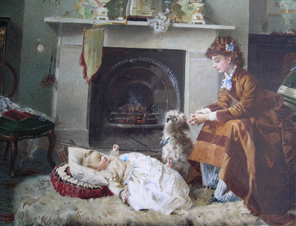 Alexander M Rossi Painting: By the Fire
