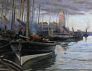 Robert Jobling Painting: South Shields Fish Quay