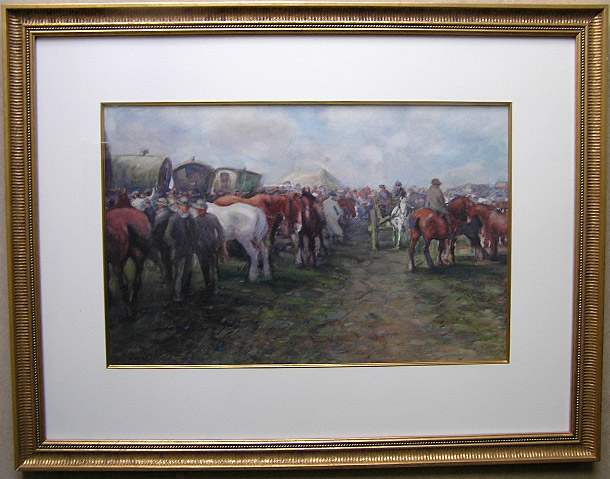 D T Robertson Painting: Appleby Horse Fair