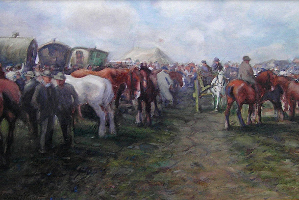 David T Robertson Painting: Appleby Horse Fair