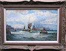 William Thornley Marine Painting: Off Dartmouth