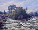 William Sticks Painting: River Tyne in Flood