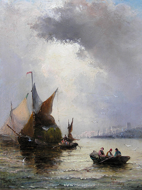 William Thornley Painting for Sale: off the Coast of Newcastle