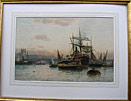 Robert Malcolm Lloyd painting, On the Thames, London