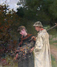B William Atkinson painting: Courting