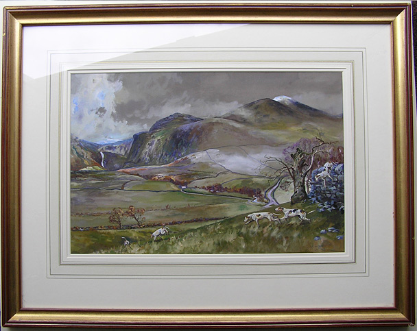 Michael Lyne painting: The Glencathra Hounds