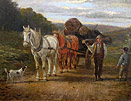 Samuel Joseph Clark painting: horse and cart