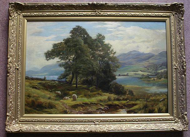 James Heron painting: On the Loch side