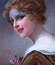 Francois Martin-Kavel: Painting of a young woman