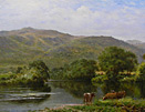 H. East painting: Bettws-y Coed