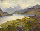 Edward H Thompson watercolour: Lakes Scene