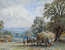 Henry John Kinnaird watercolour: haymaking