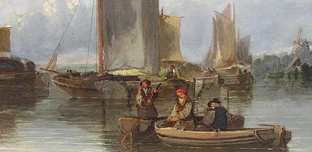 Edward Charles Williams 1807 1881 A Dutch Canal For Sale