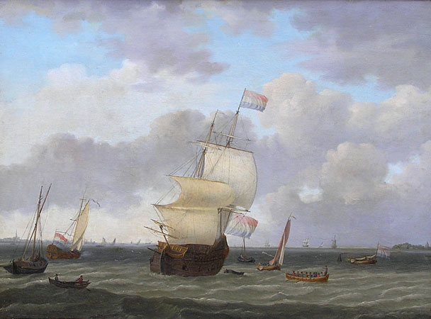 Dutch Marine Painting, 18th Century