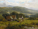 James Peel painting - Welsh Landscape