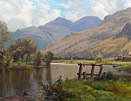 William Dalglish painting - Highland View