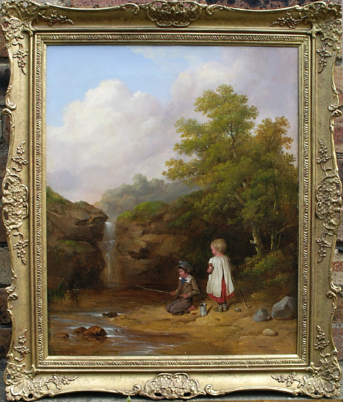 isaac henzell painting: by the brook