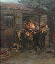 Ralph Hedley painting - the Forge