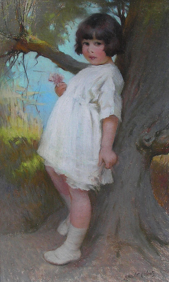 Lancelot Roberts painting: The young lass