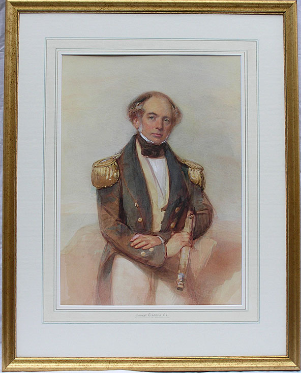 George Richmond portrait of a naval officer