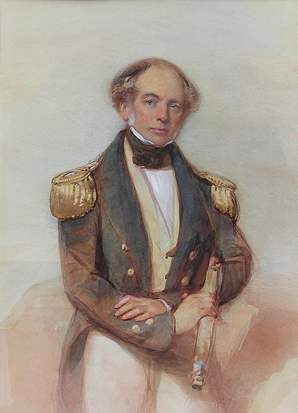 George Richmond painting of a naval officer