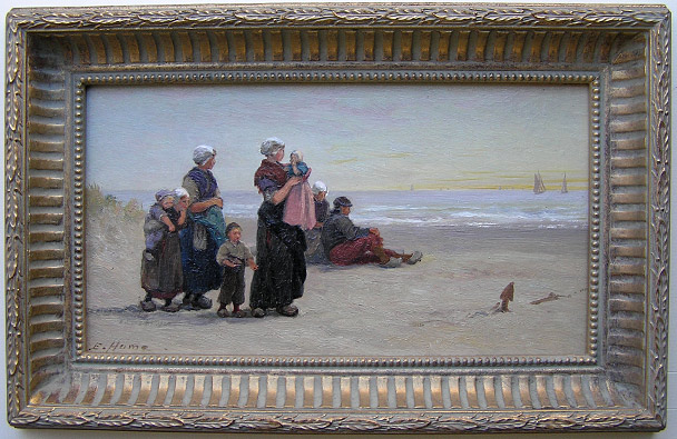 Edith Hume Painting: Fisherfolk I