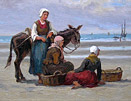 Edith Hume painting: Fisherfolk II