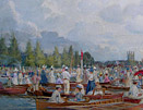 Fritz Althaus painting - Henley Regatta