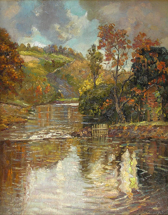 Lamorna Birch painting: The trout pool