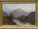 de Breanski Junior painting A Perthshire River