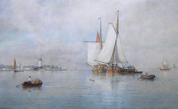JF Walters painting: A Calm Sea