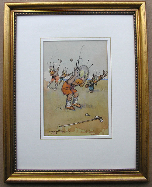 William B Dudley Ward drawing: golf