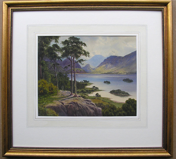 Ed H Thompson painting: Derwent Water and Borrowdale