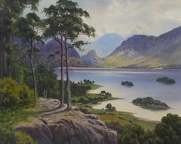 Edward H Thompson painting: Derwent Water and Borrowdale