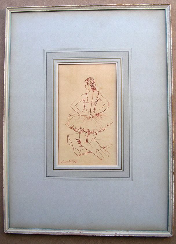 William Russell Flint original drawing: The Ballerina