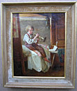 Henry Roger Oil painting: The young musician