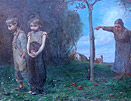 Elisabeth Keyser oil painting: Expulsion from Garden of Eden