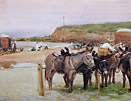 John atkinson painting: On Tynemouth Sands
